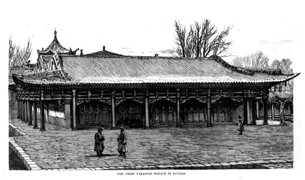 Lansdell-1885-p231-The-Chief-Taranchi-Mosque-in-Kuldja