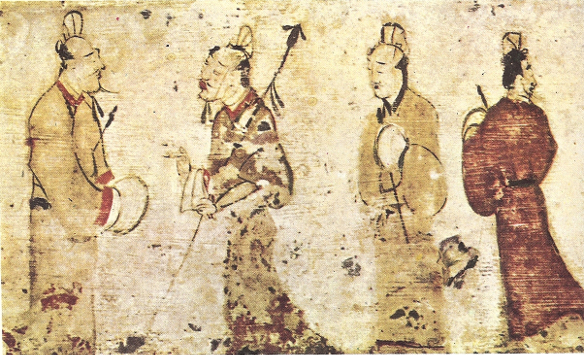 china ink painting rumors2 Han dynasty Gentlemen_in_conversation,_Eastern_Han_Dynasty